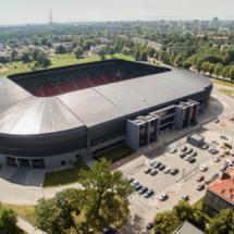 Stadion Tychy, tychy, stadion, dron, fotografia, filmowanie, aerial