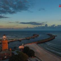 Latarnia morska Kołobrzeg, filmowanie, fotografia, dron, aerial, kamerzysta, fotograf